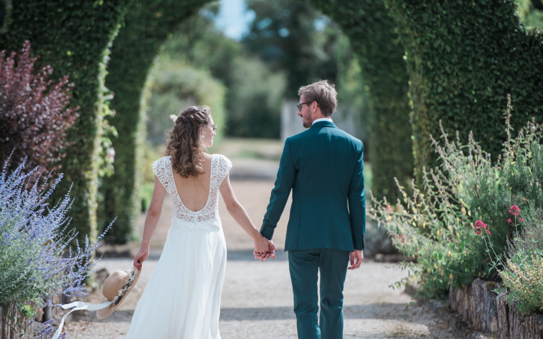Photos de mariage à l'Abbaye de Fontmorigny